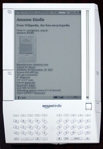 The first Amazon Kindle Reader